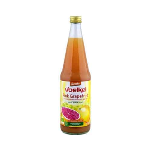 Bottle of Voelkel Organic Pink Grapefruit Juice (Demeter), 700ml