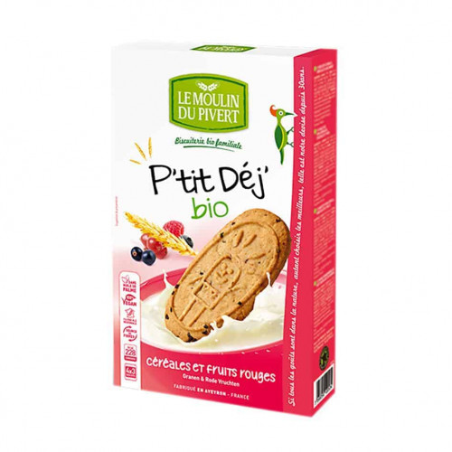 Box of Le Moulin P'tit cereals & Berries Dunking Biscuit 190g