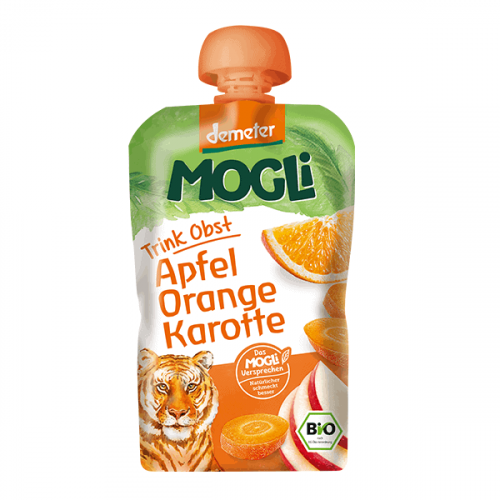 Packet of Mogli Bio-Dynamic Moothie - Apple, Orange & Carrot Smoothie, 100g
