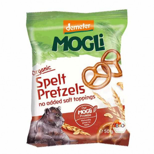 Packet of Mogli Bio-Dynamic Prezels, 50g