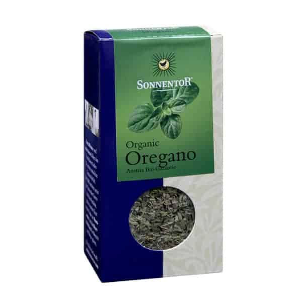 Front view of a packet of Sonnentor Organic Oregano (20g)