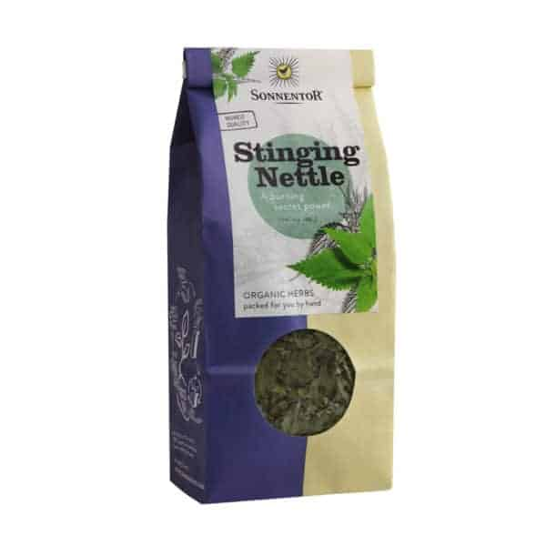 Front view of a packet of Sonnentor Stinging-Nettle, 50g