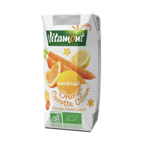 Carton of Vitamont Orange Carrot Cocktail, 200ml