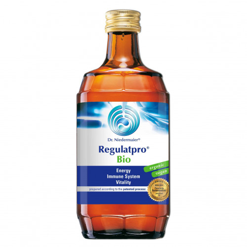 A bottle of dr niedermaier regulatpro bio
