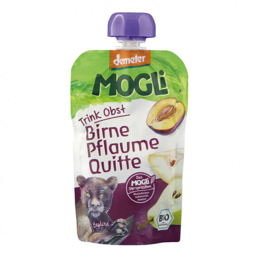 Packet of Mogli Bio-Dynamic Moothie - Plum, Pear & Quince Smoothie, 100g