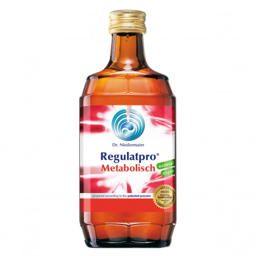 Red bottle of Regulatpro Metabolisch