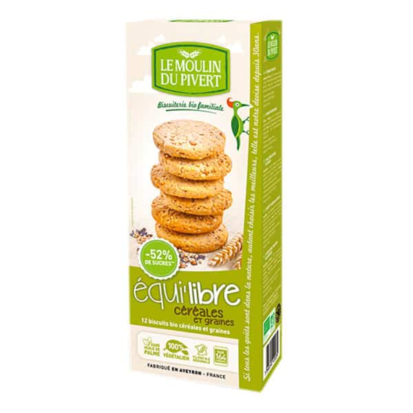 Box of Le Moulin Organic Biscuits with Cereals & Seeds Biscuits , 150g