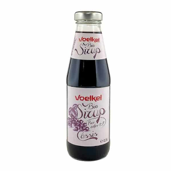 Bottle of Voelkel Organic Blackcurrant Syrup, 500ml