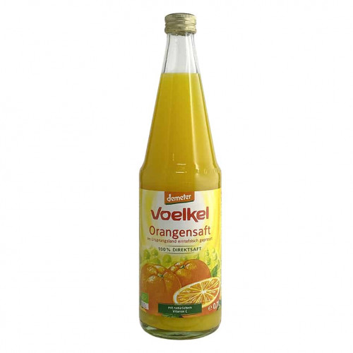 Bottle of Voelkel Organic Orange Juice (Demeter), 700ml