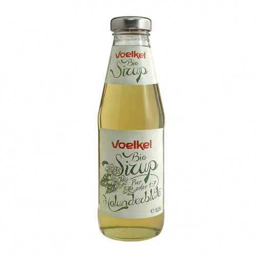 Bottle of Voelkel Organic Elderflower Syrup, 500ml