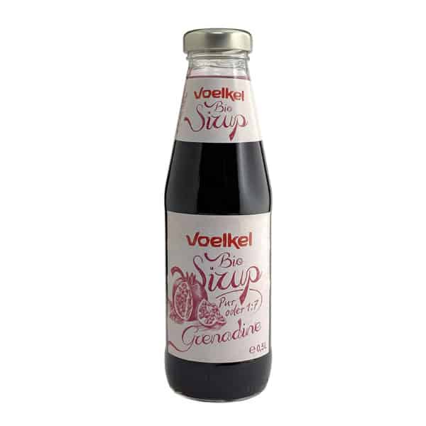 Bottle of Voelkel Organic Pomegranate Syrup, 500ml