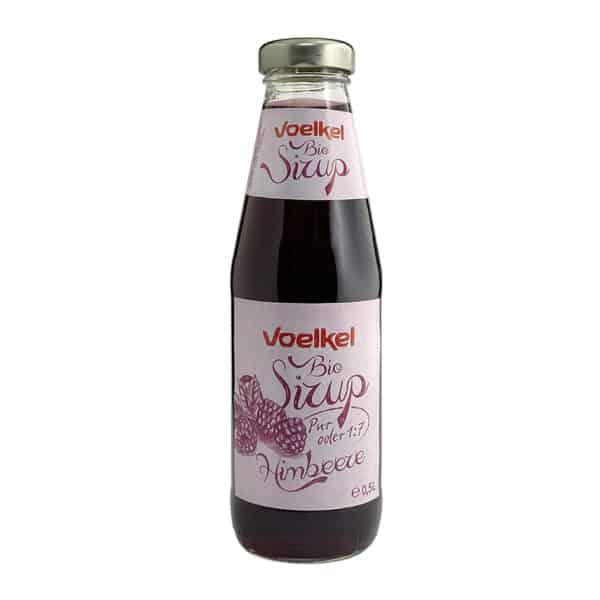 Bottle of Voelkel Organic Raspberry Syrup, 500ml