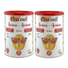 Two tins of Ecomil oat drink powder