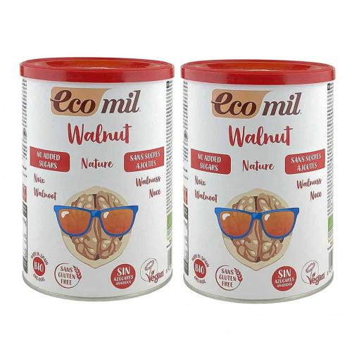 Two tins of ecomil walnut drink powder