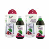 Two bottles of naturvital florian ginkgo and pomegranate drink with packaging