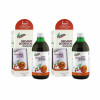 Two bottles of naturvital florian carrot and goji berry drink with packaging