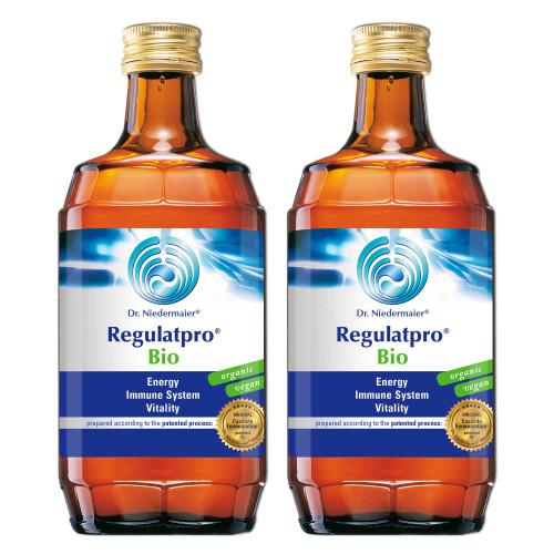 Two bottles of dr niedermaier regulatpro bio