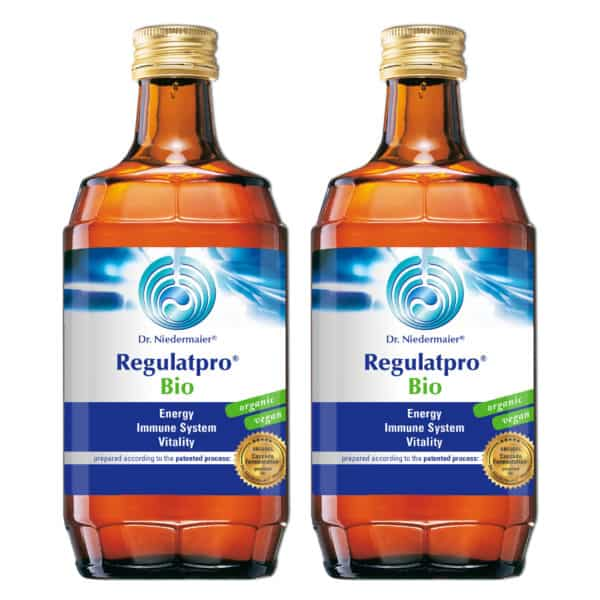 Two bottles of dr niedermaier regulatpro bio