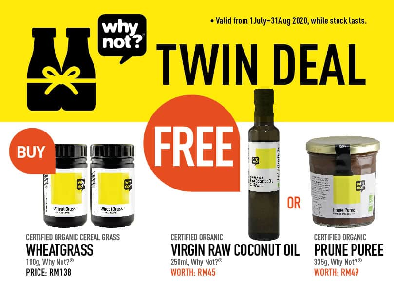 Why Not? Wheat Grass Powder Twin Deal Promotional Image